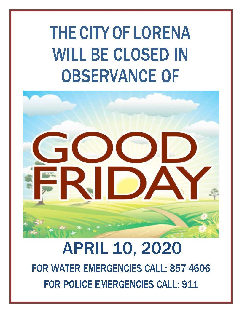 GOOD FRIDAY NOTICE